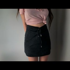 Black Suede Abercrombie & Fitch Skirt
